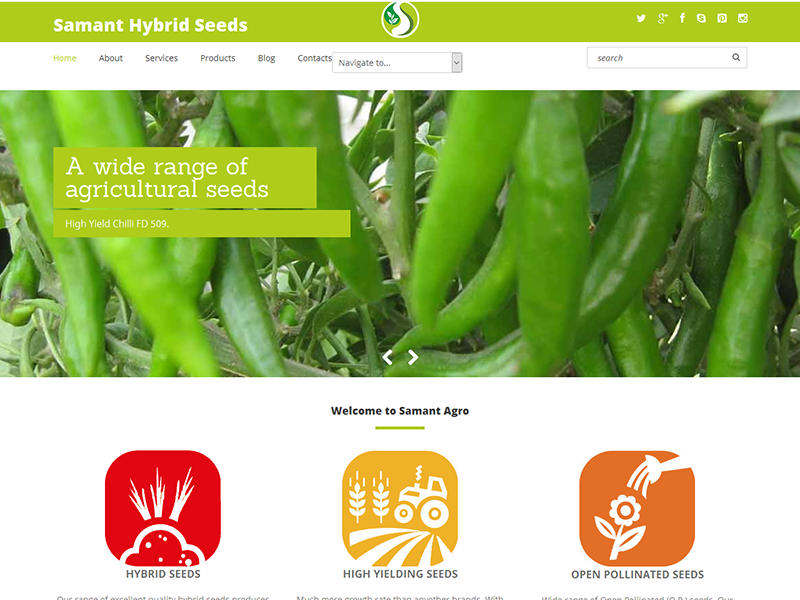 Agriculture Website